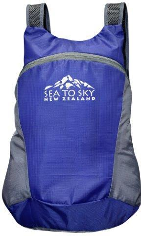 PK-00495 - Bags and Wallets Small Day pack Foldable Royal Blue - New Zealand Gifts & Souvenirs