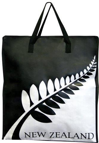 PK-00465 - Bags and Wallets Storage Bag Black White Fern - New Zealand Gifts & Souvenirs