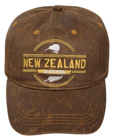 PK-60738 - Cap Leather Touch Tan - New Zealand Gifts & Souvenirs