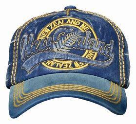 PK-60498 - Cap Navy Washed Script - New Zealand Gifts & Souvenirs