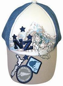 PK-60070 - Caps-Caps Children Cap Badges Blue - New Zealand Gifts & Souvenirs