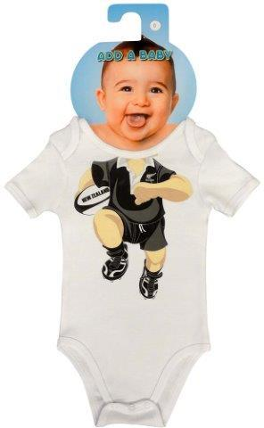 PK-79540 - Clothing Baby Bodysuit Rugby - New Zealand Gifts & Souvenirs