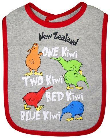PK-79566 - Clothing Large Baby Bib One Kiwi Two Kiwi - New Zealand Gifts & Souvenirs
