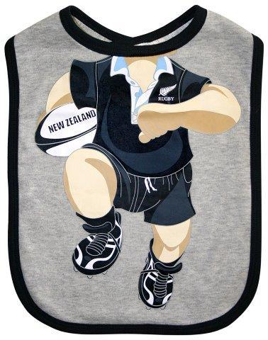 PK-79565 - Clothing Large baby Bib Rugby - New Zealand Gifts & Souvenirs
