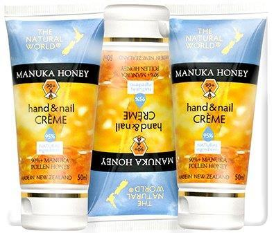 PK-50266 - Cosmetics Manuka Honey Hand and Nail Creme 50ml 3Pk - New Zealand Gifts & Souvenirs