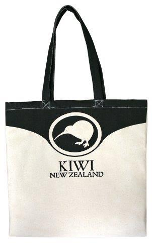 PK-00460 - Cotton Bag Kiwi in Circle - New Zealand Gifts & Souvenirs