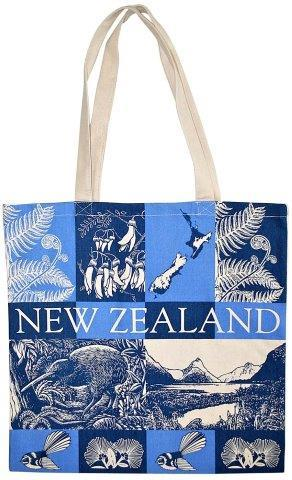 PK-00443 - Cotton Bag Scenic Blue - New Zealand Gifts & Souvenirs