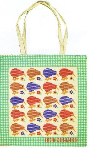 PK-00397 - Cotton Bag Spotty Kiwis - New Zealand Gifts & Souvenirs