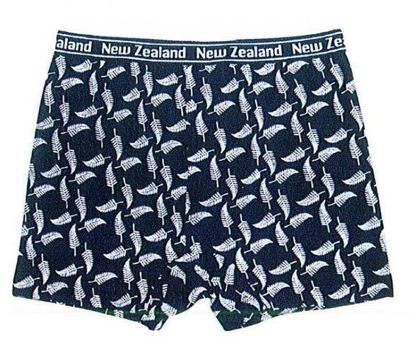 PK-75009 - Cotton Boxer Shorts - Fern Design -Small - New Zealand Gifts & Souvenirs