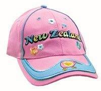 PK-60097 - Cotton Cap - Kids - Trendy Kiwi - Pink - New Zealand Gifts & Souvenirs