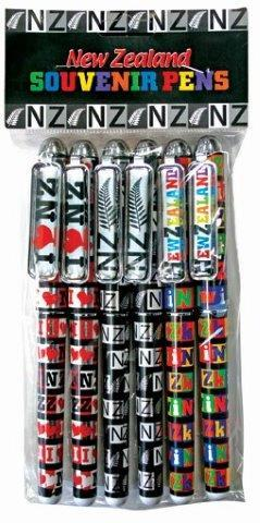 PK-40056 - Foil Pen Assorted 6Pack - New Zealand Gifts & Souvenirs