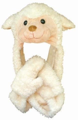 PK-60010 - Hat - Sheep Hat With Scarf Combo - New Zealand Gifts & Souvenirs