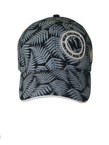 PK-60724 - Headwear Cap Native Ferns Black - New Zealand Gifts & Souvenirs