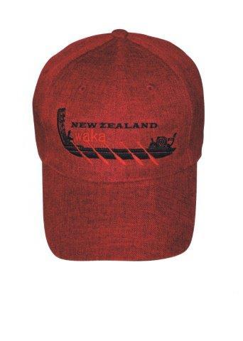 PK-60725 - Headwear Cap NZ Waka Red Marl - New Zealand Gifts & Souvenirs