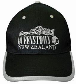 PK-60378 - Headwear Caps Queenstown Black - New Zealand Gifts & Souvenirs