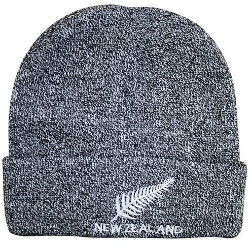 PK-60638 - Headwear Childrens Beanie Fern NZ Marl - New Zealand Gifts & Souvenirs