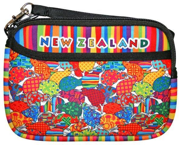 PK-00238 - Purse with Pocket Design Kiwis - New Zealand Gifts & Souvenirs