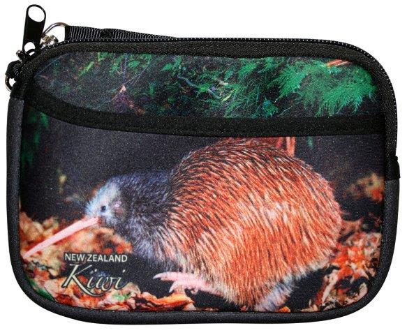 PK-00239 - Purse with Pocket Natural Kiwi - New Zealand Gifts & Souvenirs