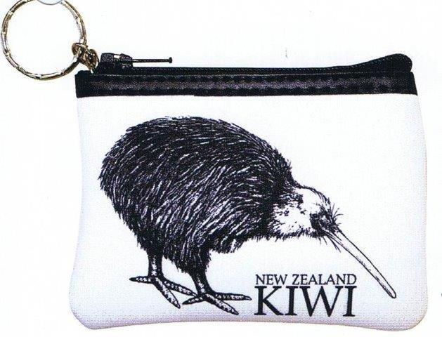PK-00388 - Zip Purse with Keychain NZ Kiwi - New Zealand Gifts & Souvenirs