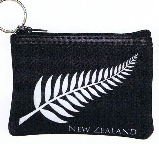 PK-00389 - Zip Purse with Keychain Fern - New Zealand Gifts & Souvenirs