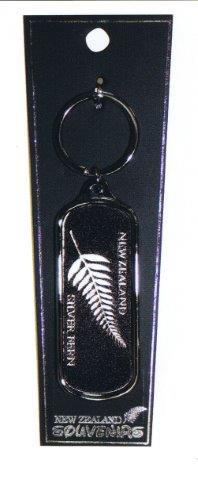 PK-20535 - Keychains Oblong Foil Fern - New Zealand Gifts & Souvenirs