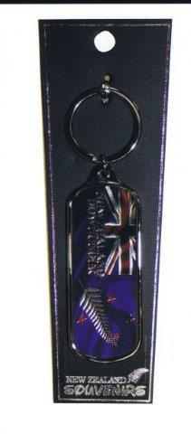 PK-20536 - Keychains Oblong Foil Flag - New Zealand Gifts & Souvenirs