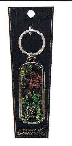 PK-20575 - Keychains Oblong Foil Kiwi - New Zealand Gifts & Souvenirs
