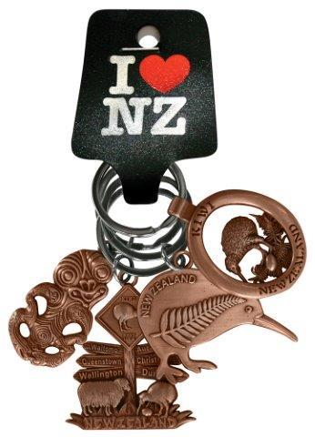 PK-20638 - Keychains 4 Pack Tiki Copper - New Zealand Gifts & Souvenirs