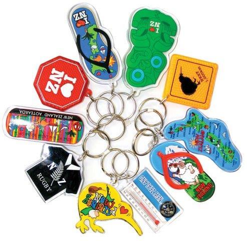 PK-21995 - Keychain 10 Pack Bundle Assorted Multi Tiki - New Zealand Gifts & Souvenirs