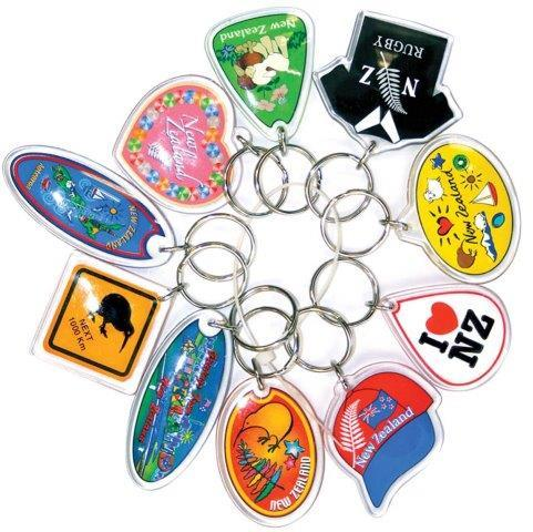 PK-21997 - Keychain 10 Pack Bundle Assorted Auckland - New Zealand Gifts & Souvenirs