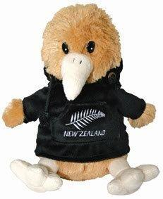 PK-30413 - Kiwi with Hoody Medium Fern Black - New Zealand Gifts & Souvenirs