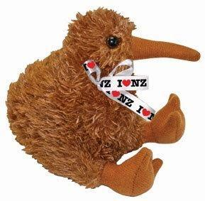 PK-30444 - Soft Toys Kiwi 10 cm With Voice in bag - New Zealand Gifts & Souvenirs