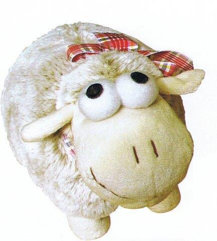 PK-30456 - Medium Sheep Tartan Ribbon Cream - New Zealand Gifts & Souvenirs
