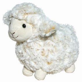 PK-30536 - Soft Toys 21cm Curly Cream Sheep White Face - New Zealand Gifts & Souvenirs