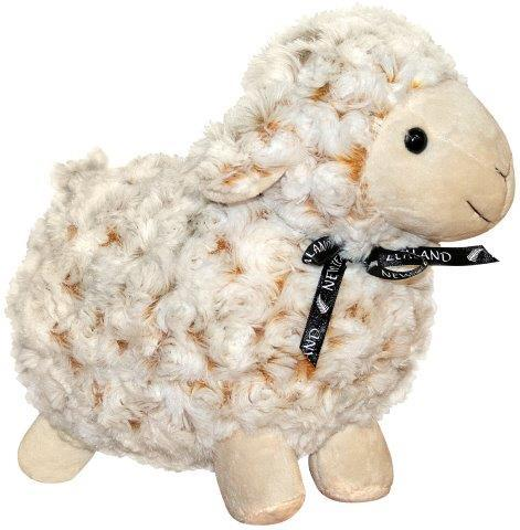 PK-30538 - Soft Toys 26cm Curly Cream Sheep White Face - New Zealand Gifts & Souvenirs