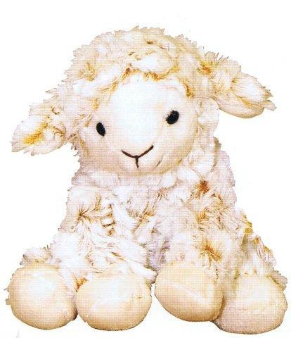 PK-30552 - Soft Toys Curly Lamb 16 cm Sitting - New Zealand Gifts & Souvenirs
