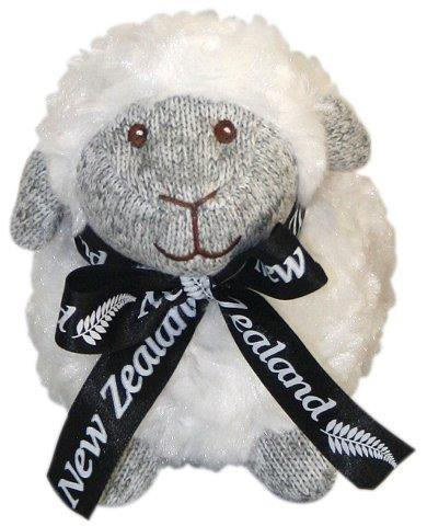 PK-30665 - Soft Toys Standing Sheep 14cm Grey Marl Face - New Zealand Gifts & Souvenirs