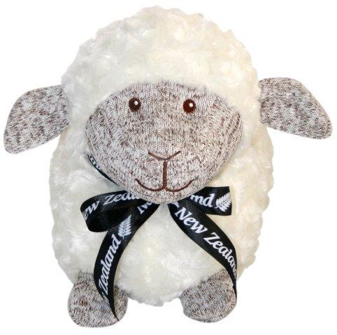 PK-30670 - Soft Toys Standing Sheep 24cm Brown Marl Face - New Zealand Gifts & Souvenirs