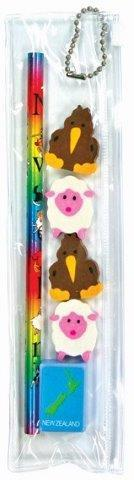 PK-35091 - Kiwi Sheep Pencil Eraser Pack - New Zealand Gifts & Souvenirs