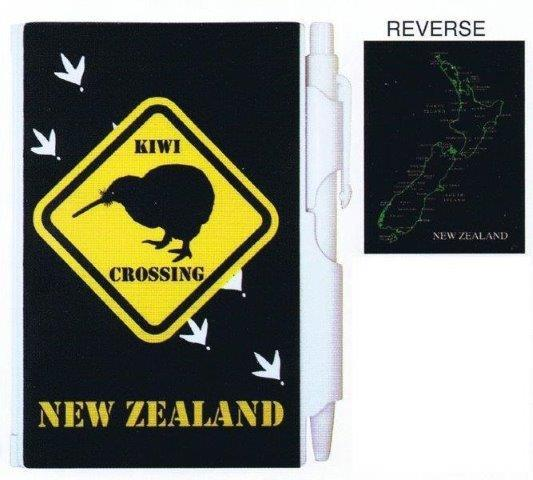 PK-35123 - Notebook Small with Pen Kiwi Crossing - New Zealand Gifts & Souvenirs
