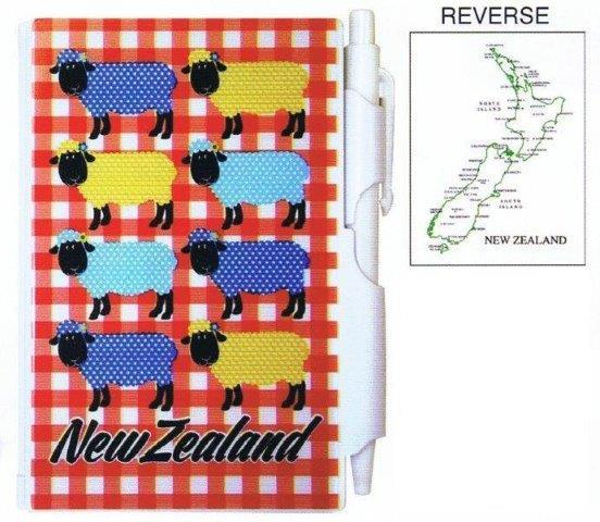 PK-35125 - Notebook Small with Pen Design Sheep - New Zealand Gifts & Souvenirs