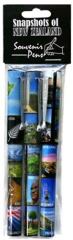 PK-40164 - Pens Metal Clip Pen 3Pk North Island Collage - New Zealand Gifts & Souvenirs