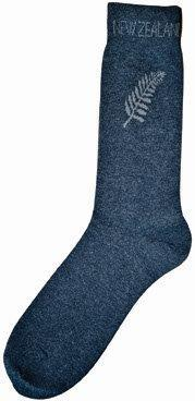 PK-55113 - Mens Socks Navy With Fern - New Zealand Gifts & Souvenirs