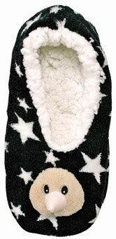 PK-55124 - Slippers Kiwi Black L XL - New Zealand Gifts & Souvenirs