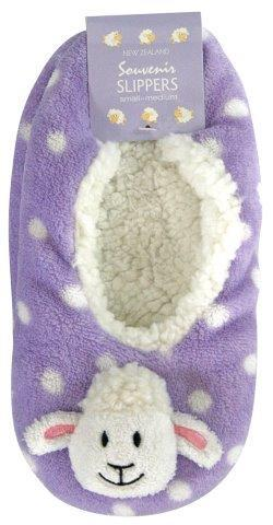 PK-55262 - Socks Slippers Sheep Lilac L XL - New Zealand Gifts & Souvenirs