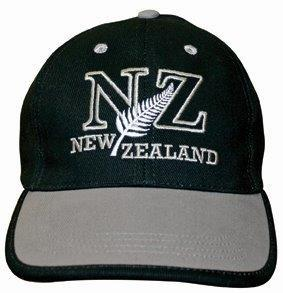 PK-60410 - Headwear-Caps-NZ-Outline-Black-Grey - New Zealand Gifts & Souvenirs