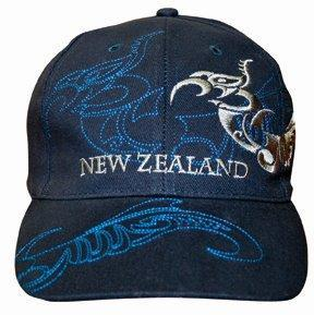 PK-60416 - Headwear-Caps-Grey-Tattoo-Topstitch-Navy - New Zealand Gifts & Souvenirs