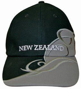 PK-60417 - Headwear-Caps-Grey-Panel-Tattoo-Black - New Zealand Gifts & Souvenirs