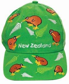 PK-60469 - Headwear-Childrens-Cap-Multi-Kiwi-Green - New Zealand Gifts & Souvenirs