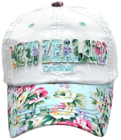 PK-60573 - NZ Original Blue Floral Peak - New Zealand Gifts & Souvenirs